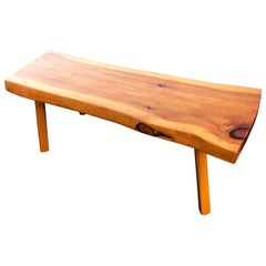 Live Edge Wooden Slab Bench or Table