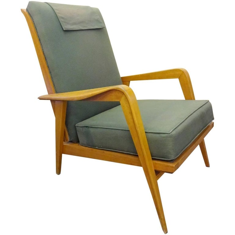 Pair of Reclining Armchairs by Etienne Henri Martin For Sale