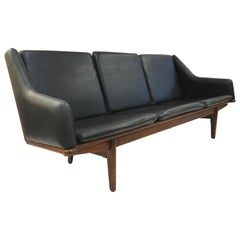 Danish Leather Sofa by Poul Volther