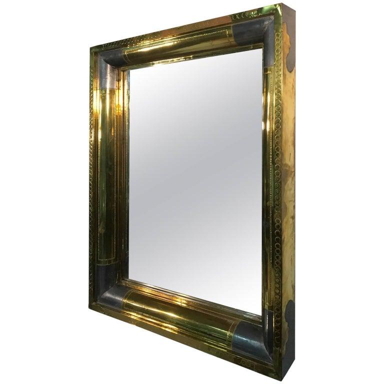 Brass Mirror Patch Work Design