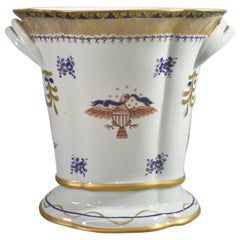 Lowestoft Reproduction Created by Mottahedeh Federal Eagle Porcelain Cachepot