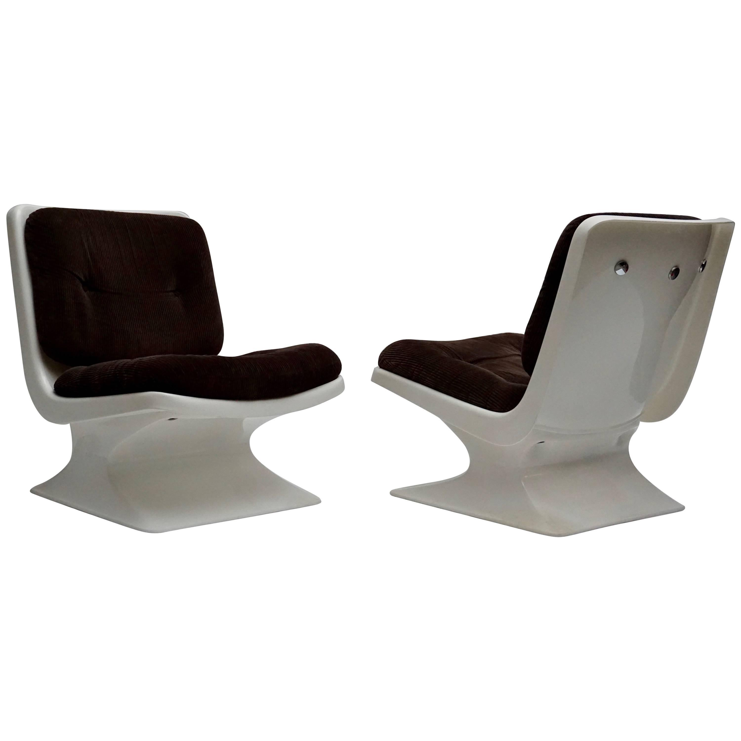 Albert Jacob Lounge Chairs for Grosfillex, 1970