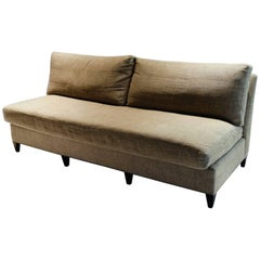 Three-Seater Sofa Upholstered in Linen, Designed by Suzanne Kasler 2006