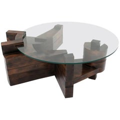 Unique Wooden Sculptural Coffee Table by Nerone E. Patuzzi