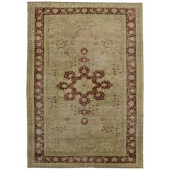 Distressed Vintage Turkish Sivas Rug with Modern Traditional Style