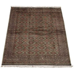 Signed Wool and Silk Pak Bukhara Area Rug