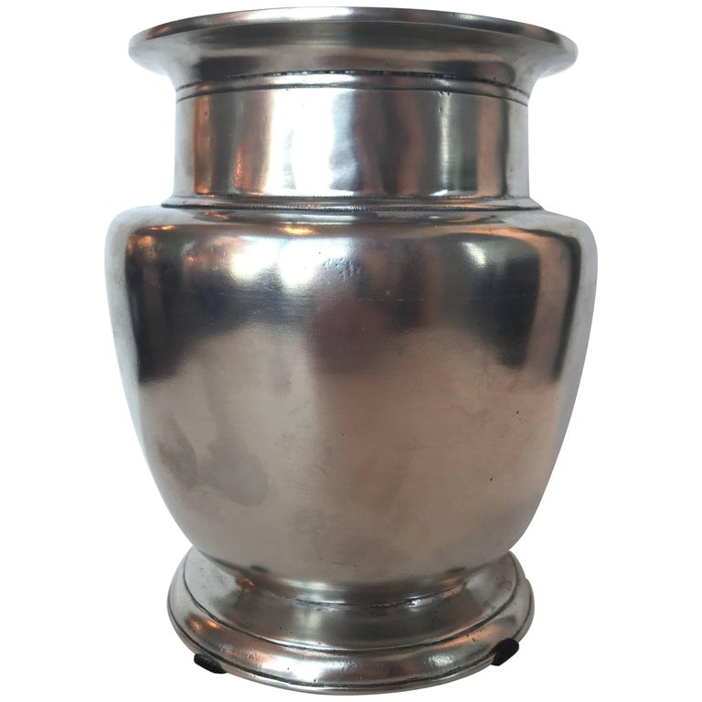 20th Century Rimmed Pewter Vase At 1stdibs