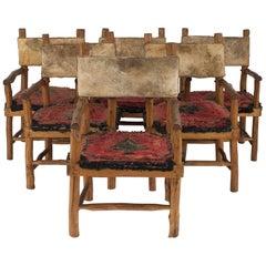 Set of Six Rustic Adirondack Armchairs
