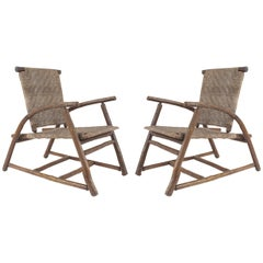 Pairs of Rustic American Old Hickory Armchairs