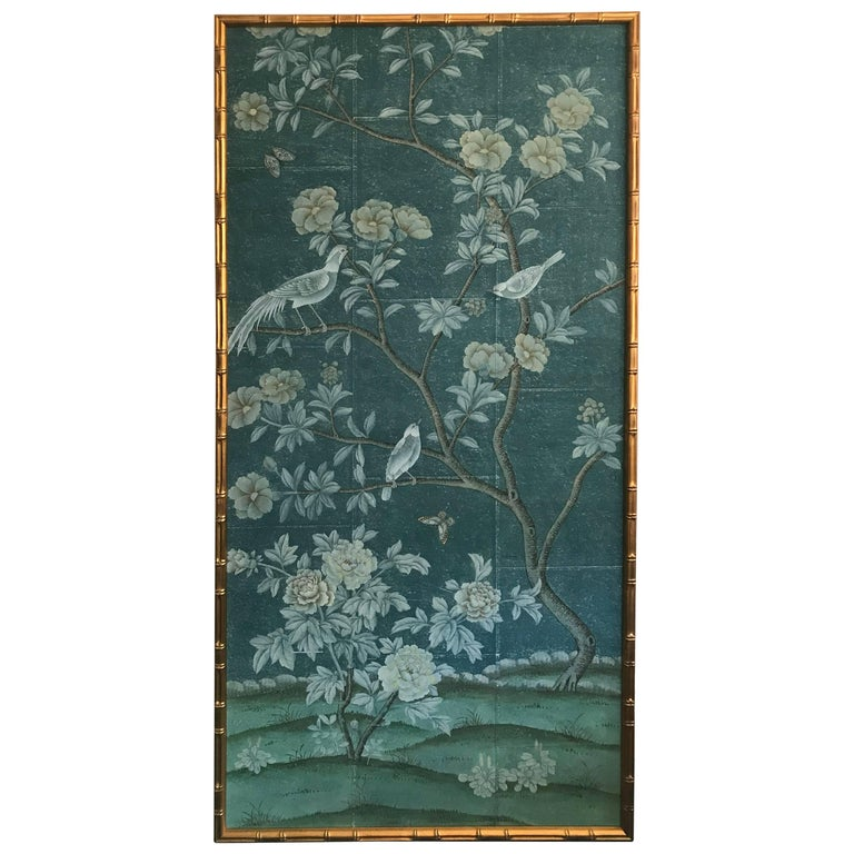 Framed Chinoiserie Panel For Sale