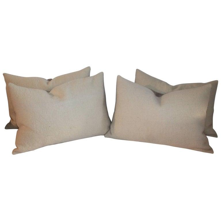 Mohair Bolster Pillows, Pair