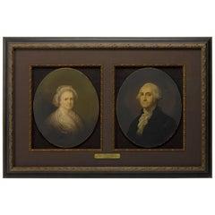 George and Martha Washington Chromolithograph Portraits by E.C. Middleton