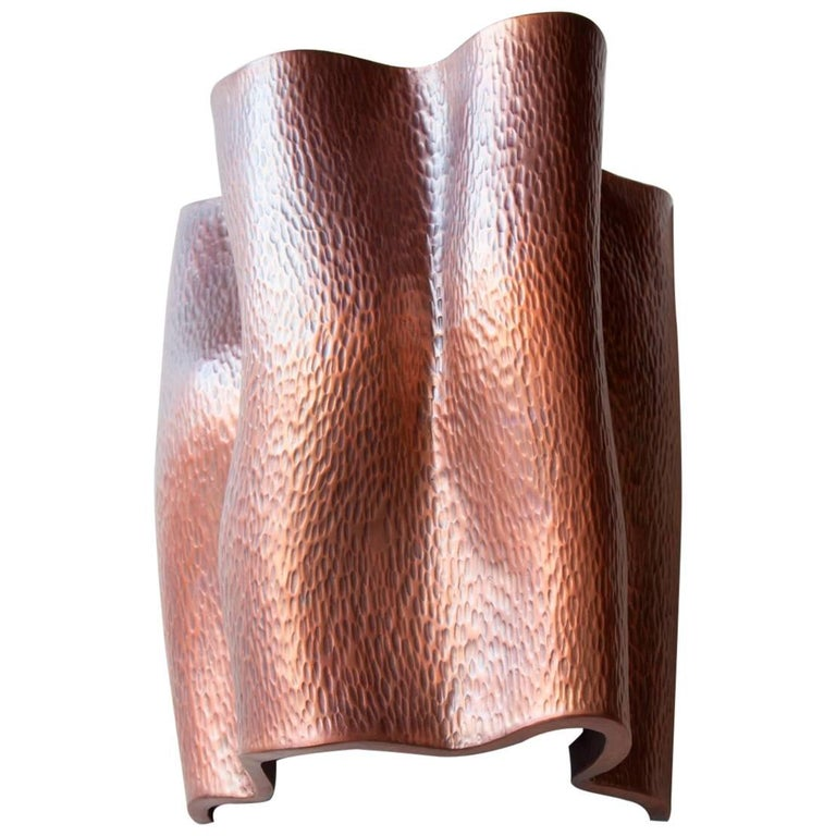 Ji Guan Sconce, Antique Copper by Robert Kuo, Limited Edition