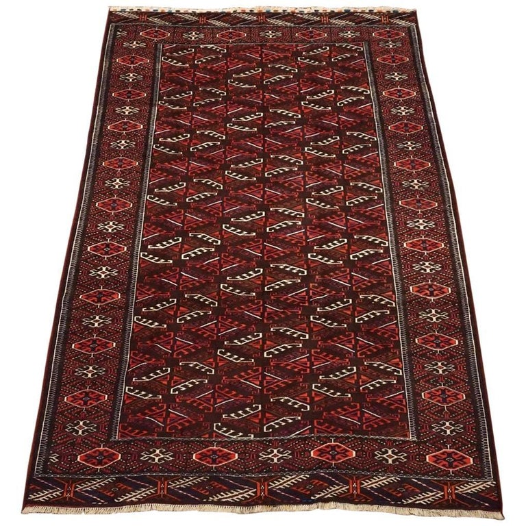 Antique Turkoman Rug: Vintage Turkoman Yomud Rug, Circa 1960 For Sale At 1stdibs