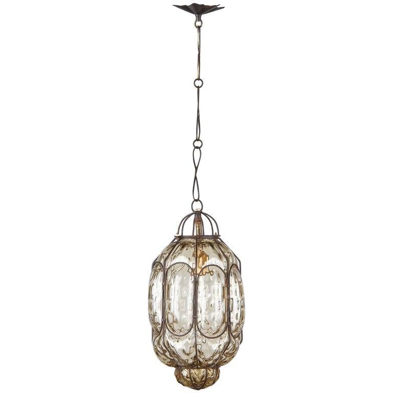 Murano Glass Lantern, Italy, 1950s