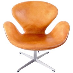Early Edition Swan Chair by Arne Jacobsen for Fritz Hansen, Denmark, 1967