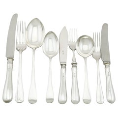 1973 Sterling Silver Canteen of Cutlery for Six Persons