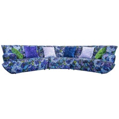 Bretz Cloud 7 Designer Cornersofa Blue Lilac Green Fabric Couch Modern Pattern