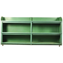 Vintage Green Industrial Shelving Unit