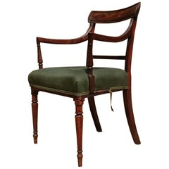Early 19th Century Mahogany George III Period Antique Armchair or Desk Chair
