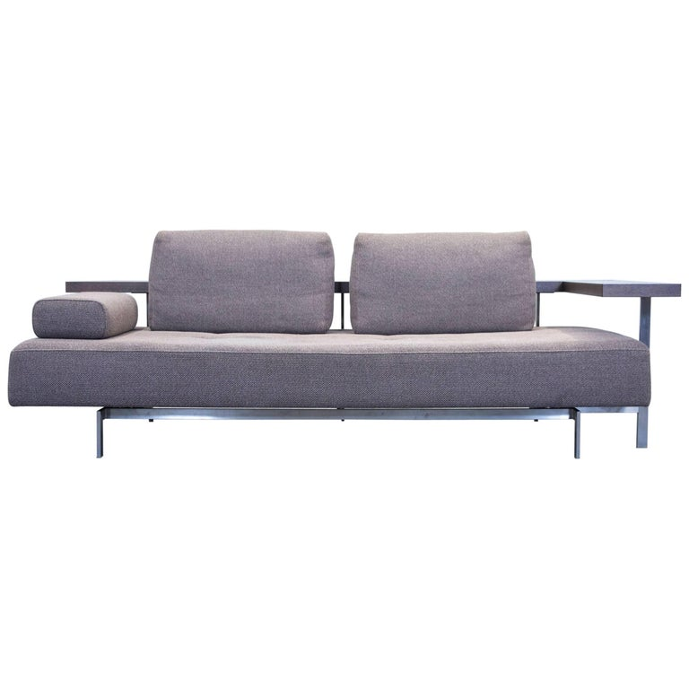 rolf benz dono 6100 designer sofa grey fabric function two seat couch modern for sale at 1stdibs. Black Bedroom Furniture Sets. Home Design Ideas
