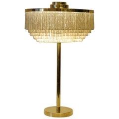 Silk Fringe and Brass Table Lamp B138, Hans-Agne Jakobsson, Markaryd, Sweden