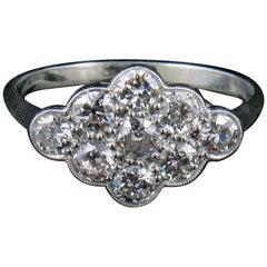 18-Carat White Gold and Diamond Pave Ring, circa 1930