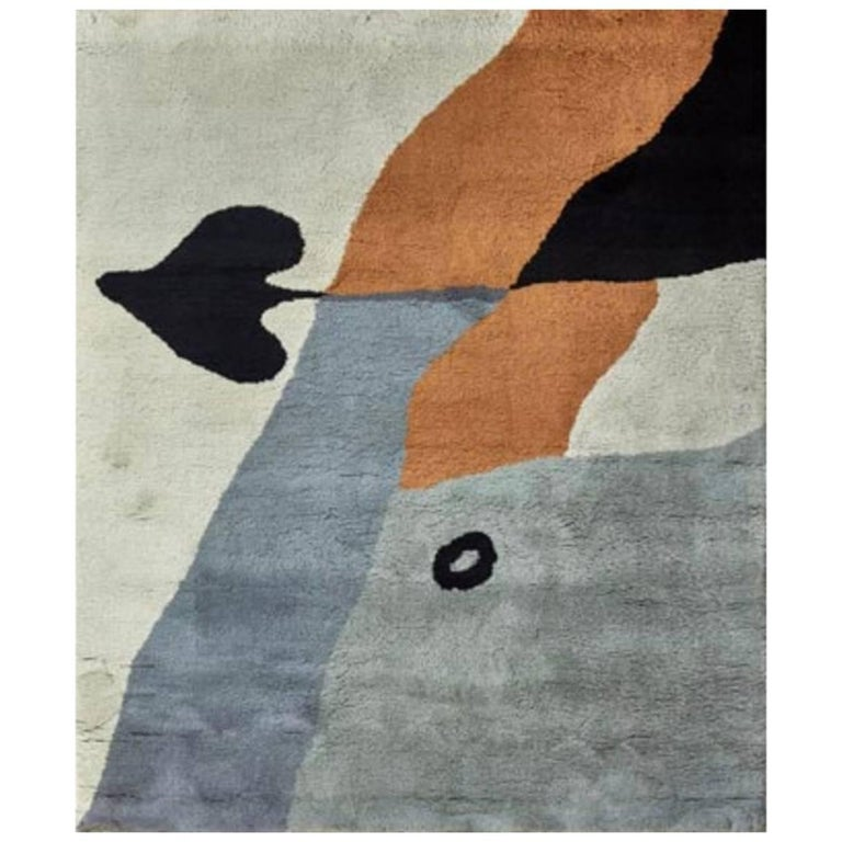 "Jean Arp Rug, ""As de Pique"" by Marie Cuttoli & Luci Weill"