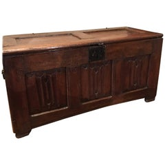 Gothic Late 15th Century Chest Linenfold Pannels of the Period