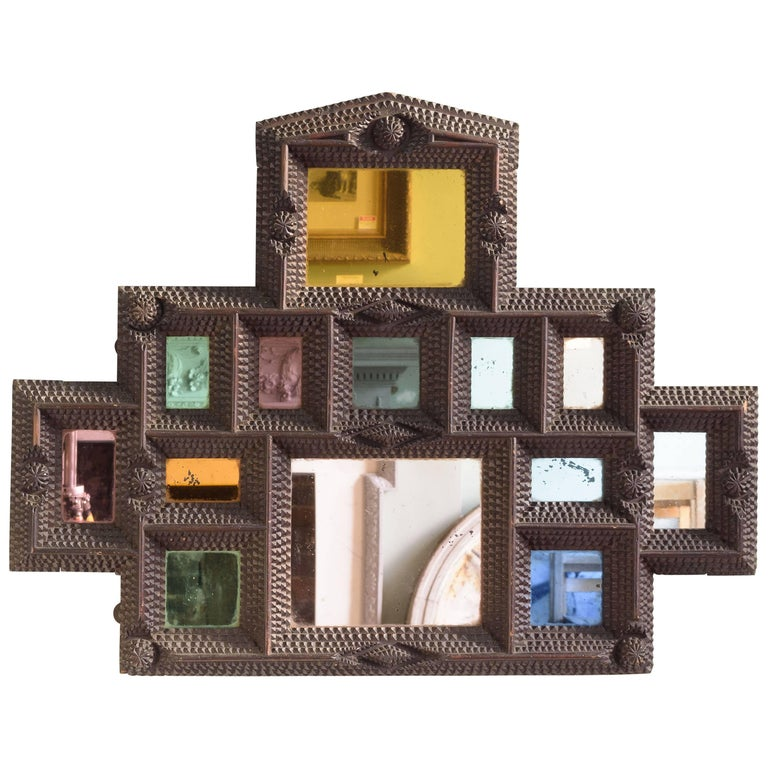 French Tramp Art Picture Frame