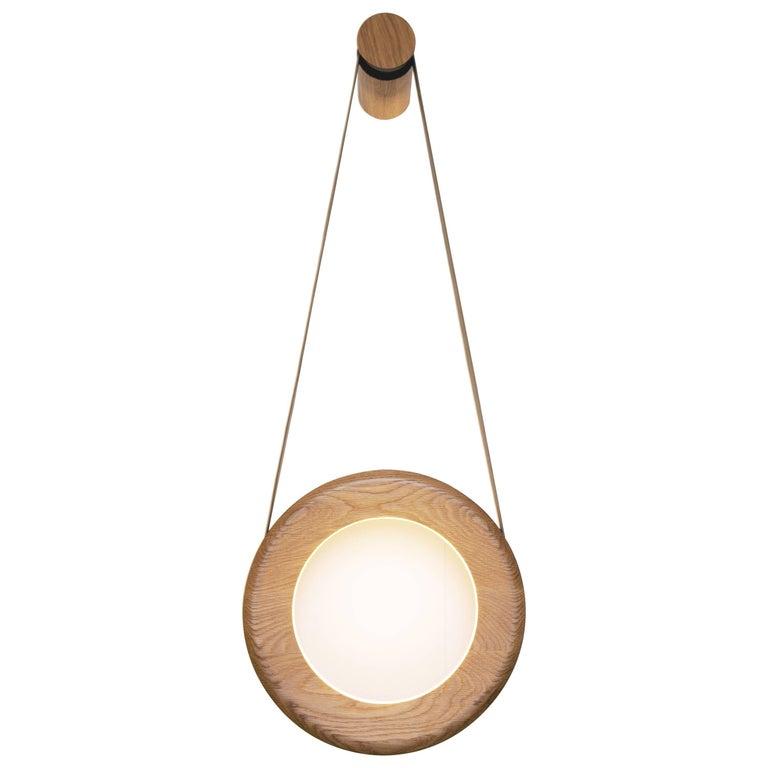 Halo Wall Lamp 'DIM' Oak For Sale