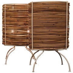 Candle Bambu' Table Lamp, Campana Brothers by Fontana Arte, 2000