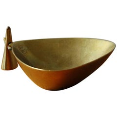 Carl Auböck Large Brass Ashtray with Tamper #2