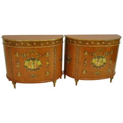 Pair of French Adam Style Commodes by Irwin Furniture Dated 1937