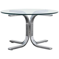 Designer Sofa Table Glass Chrome Couch Modern