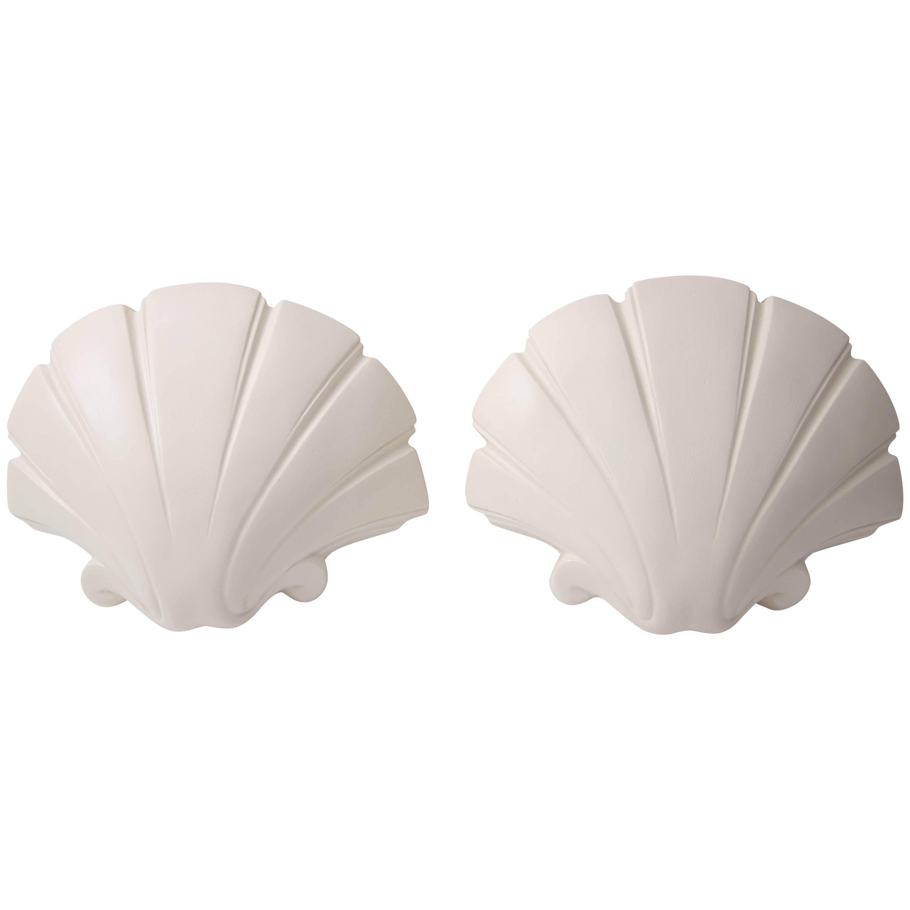 Clam Shell-Form Wall Sconces