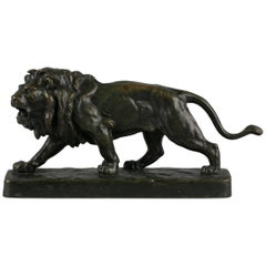 French Bronze Figure of a Striding Lion, circa 1860
