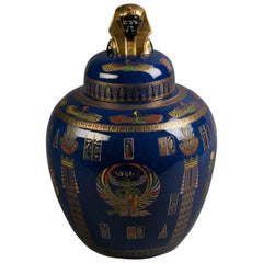 "Carlton Ware ""Tutenkamun"" Covered Vase, circa 1920"