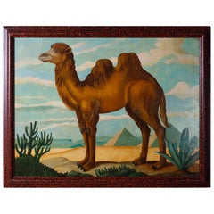 Oil Painting on Canvas of a Camel by William Skilling