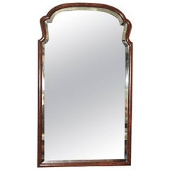 Queen Anne Revival Burl Walnut Pier Mirror