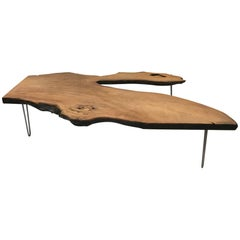 Large Organic Teak Live Edge Coffee Table