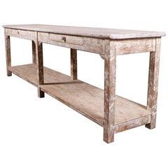 English Potboard Serving Table