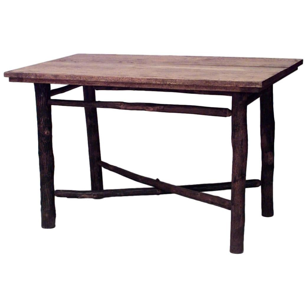 American Rustic Old Hickory Dining Table
