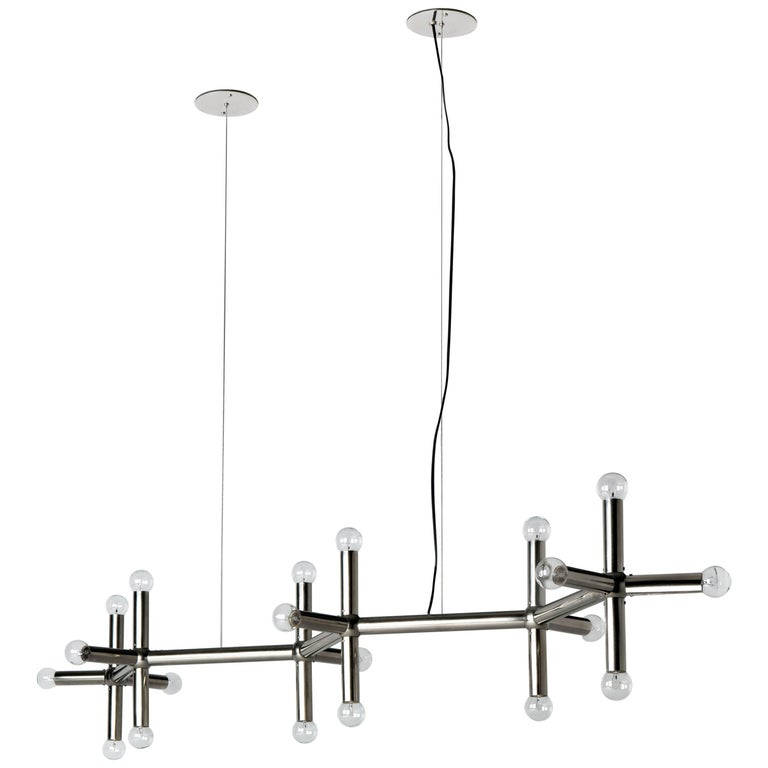 """Mid-Century Modern """"Linear Chandelier"""" by Robert Haussmann for Remains Lighting For Sale"""