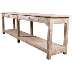 English Potboard Serving Table