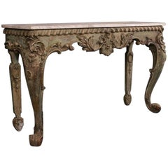 19th Century Original Painted Italian Console Table
