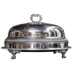 Sheffield Meat Dome and Tray by John Waterhouse, Hatfield Co, circa 1836