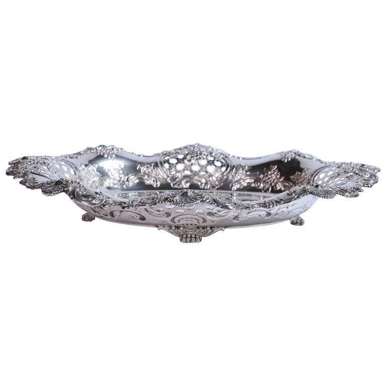 Tiffany and Co. Sterling Silver Oval Serving Tray
