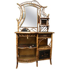 """Over the Top"" 19th Century Bamboo Fantasy Sideboard"