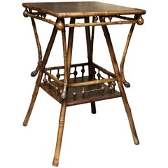 Superb 19th Century English Bamboo Table